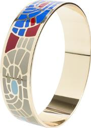 Gold Plated Multi Coloured Enamel Bangle Ba01179 M 888