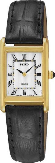 Ladies Gold Plated Solar Strap Watch Sup250p1
