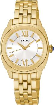 Ladies Gold Plated Watch Srz428p1