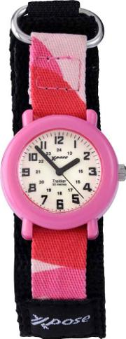Childrens Fabric Strap Analogue Watch 3009
