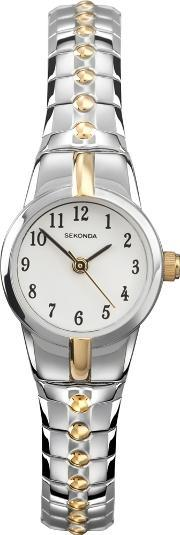 Ladies White Dial Watch 4091