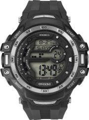 Mens Black Rubber Digital Watch 1521