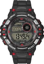 Mens Black Rubber Digital Watch 1522