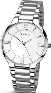 Mens Silver Toned Watch 1154