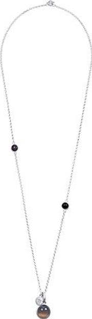 Nugget Silver Plated Round Multi Stone Necklet V188