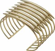 Gold Vermeil Quill Cuff Bangle Qu010.yvnabos
