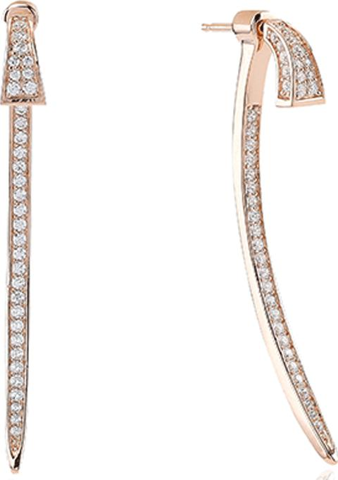 2593ccf16 Ladies Rose Gold Plated 'treviso' White Cubic Zirconia Ear Jackets Sj E0601  Cz Rg. Follow sif jakobs ...