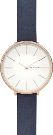 Karolina Rose Gold Plated Leather Strap Watch Skw2723