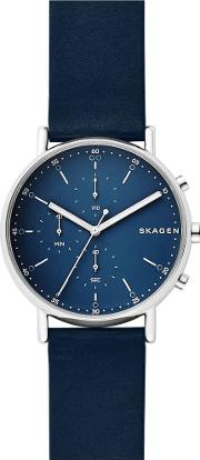 Mens Signatur Blue Chronograph Strap Watch Skw6463