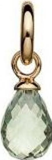 Gold Plated Faceted Green Amethyst Drop 5408815
