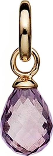 Gold Plated Faceted Purple Amethyst Drop 5408814
