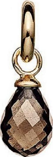 Gold Plated Faceted Smoky Quartz Drop 5408813