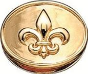 Gold Plated Oval French Lily 5008861