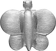 Silver Matte Butterfly Button Charm 4008435