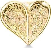 Sterling Silver Gold Plated Heart Charm 5008951