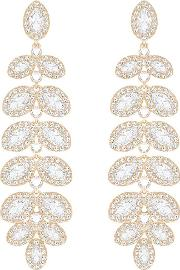 Baron Rose Gold Plated Leaf Earrings 5350617