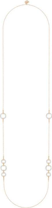 Circle Rose Gold Plated Strand Necklace 5364202