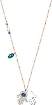 Duo Rose Gold Plated Hamsa Hand Necklace 5396882