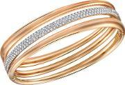 Exact Rose Gold Plated Multi Row Bangle Large 5221564