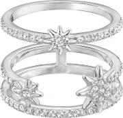 Fizzy Clear Crystal Double Row Ring 5257498 48