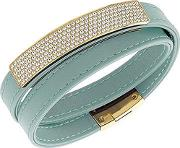 Ladies Vio Cielo Gold Plated Green Bracelet 5120641 M