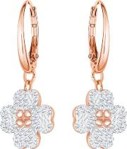 Latisha Rose Gold Plated Flower Dropper Earrings 5420249