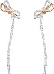Lifelong Bow Two Colour Rose Gold Plated Dropper Earrings 5447083
