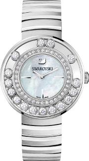 Lovely Crystals White Mother Of Pearl Bracelet Watch 1160307