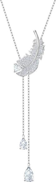 Nice White Crystal Y Necklace 5493397