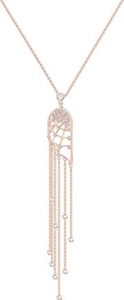 Precisely White Crystal Rose Gold Tone Necklace 5496492