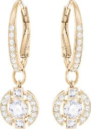 Sparkling Dancing Crystal Rose Gold Plated Drop Earrings 5272367
