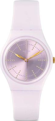 Ladies Guimauve Pink Rubber Strap Watch Gp148