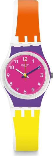Ladies Sun Through Multicolour Rubber Strap Watch Lw165