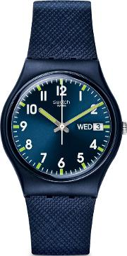 Unisex Sir Blue Rubber Strap Watch Gn718