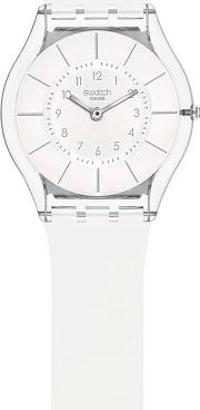 White Classiness Rubber Strap Watch Sfk360