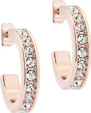 Seanna Small Rose Gold Crystal Hoop Earrings Tbj2111 24 02