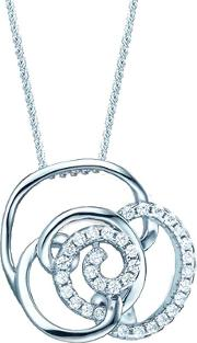 Ladies Sterling Silver Cubic Zirconia Open Knot Pendant Re29324