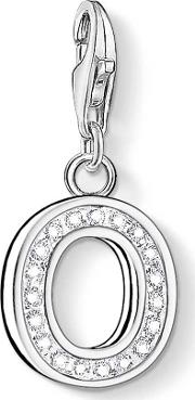 Silver Cubic Zirconia Letter O Charm 0237 051 14