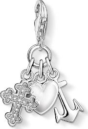 Silver Faith Love Hope Charm 0409-051-14