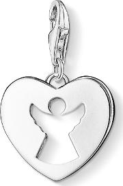 Silver Heart Cut Out Angel Charm 0869-001-12