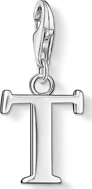 Silver Letter T Charm 0194 001 12