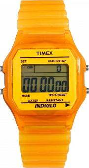 Unisex Orange Rubber Strap Watch T2n807