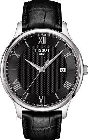 Mens T Classic Tradition Strap Watch T063.610.16.058.00