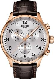 Mens T Sport Chrono Xl Classic Brown Watch T116.617.36.037.00
