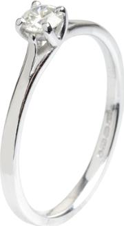18ct White Gold 4 Claw Solitaire Diamond Ring Ri 145 0.25ct Plus Isi30.28ct