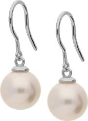 18ct White Gold Freshwater Pearl Dropper Earrings Eox70044fw