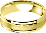 18ct Yellow Gold 4.0mm Flat Court Bevelled Brushed And Polished Wedding Ring Bfc4.0pf06 18y