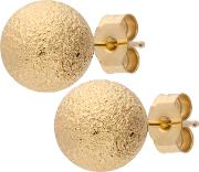 9ct Gold Large Frosted Ball Earrings E17 5137