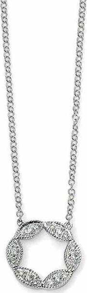 9ct White Gold Diamond Open Circle Necklet Gn227