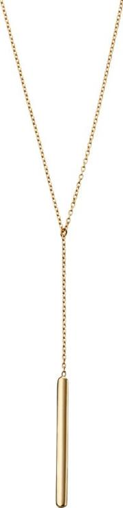 9ct Yellow Gold Lariat Bar Necklace Gn273